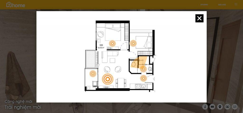 sơ đồ mặt bằng bất động sản trong VR Tour