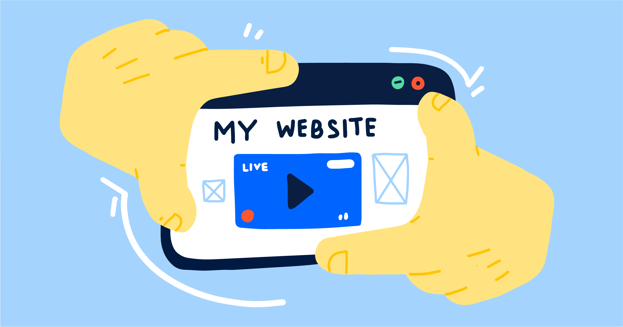 Livestream trên trang web