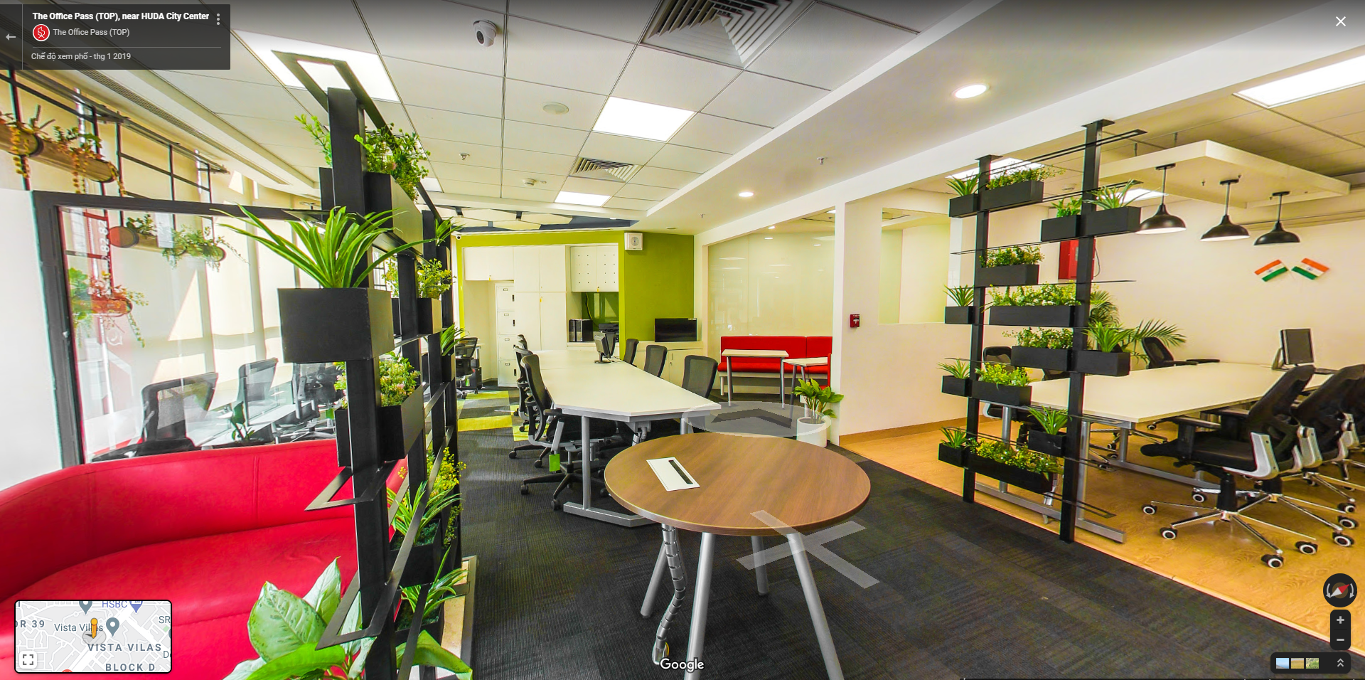 Tour 360 cho văn phòng coworking Space