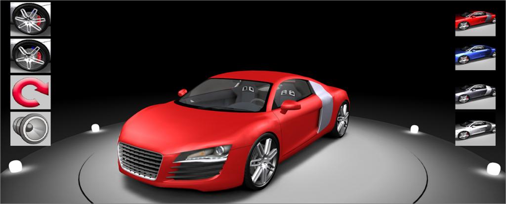 Tùy biến thay đổi màu sắc sản phẩm trong tour 360 cho showroom ô tô