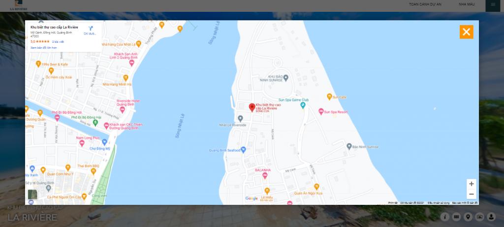 Tính năng định vị trên GG Maps của Tour 360 cho khu công nghiệp