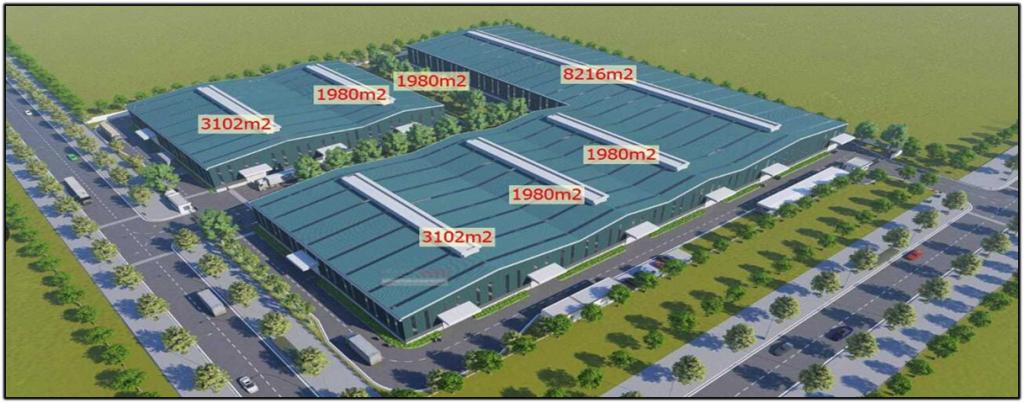 Chọn khu vực dự án muốn thuê trong tour 360 cho khu công nghiệp