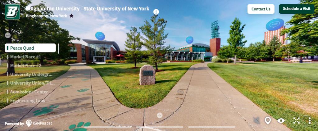 Tour 360 cho trường học - Binghamton University