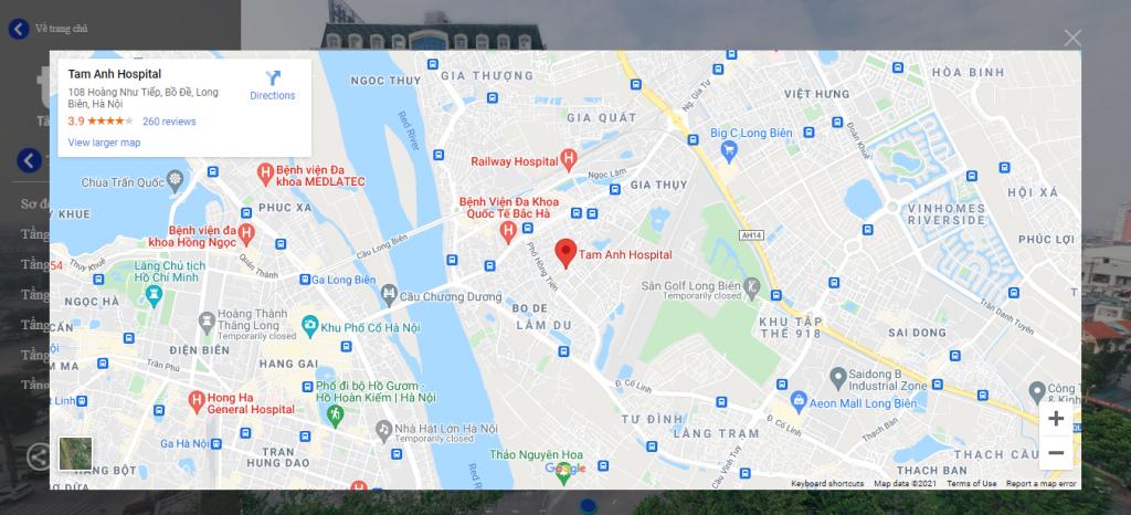 tích hợp vị trí trên GG Maps trong tour 360