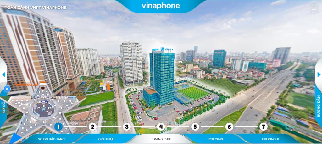 Không gian toàn cảnh của VNPT Trong VR Tour cho bảo tàng
