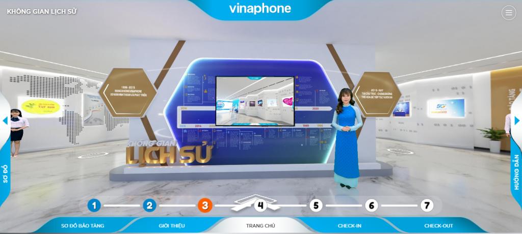 Dự án thực tế ảo bảo tàng VNPT Vinaphone kỷ niệm 25 năm thành lập (dự án do VR Plus triển khai)