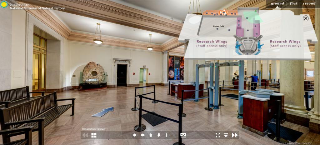 Công nghệ thực tế ảo VR tour áp dụng cho bảo tàng Lịch sử tự nhiên quốc gia Smithsonian (Washington DC)
